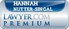 Hannah F. Nutter-Singal  Lawyer Badge