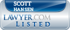 Scott Hansen Lawyer Badge