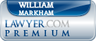 William A. Markham  Lawyer Badge