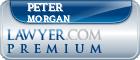 Peter E. Morgan  Lawyer Badge