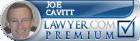 Joe Cavitt  Lawyer Badge