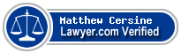 Matthew Leonard Cersine  Lawyer Badge