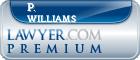 P. Daniel Williams  Lawyer Badge