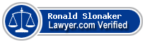 Ronald W. Slonaker  Lawyer Badge