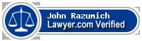 John Douglas Razumich  Lawyer Badge