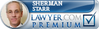 Sherman H. Starr  Lawyer Badge