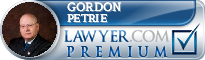 Gordon Wayne Petrie  Lawyer Badge