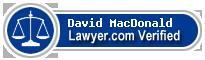 David W. MacDonald  Lawyer Badge