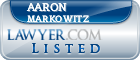 Aaron Markowitz Lawyer Badge