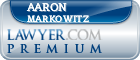 Aaron B. Markowitz  Lawyer Badge