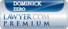 Dominick Zero  Lawyer Badge