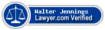 Walter Jennings  Lawyer Badge