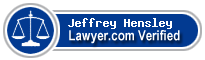 Jeffrey A Hensley  Lawyer Badge