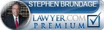 Stephen A Brundage  Lawyer Badge