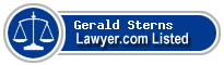 Gerald Sterns Lawyer Badge