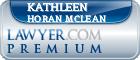 Kathleen Horan McLean  Lawyer Badge