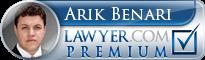Arik T. Benari  Lawyer Badge