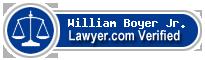 William G. Boyer Jr.  Lawyer Badge
