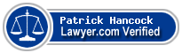 Patrick Hancock  Lawyer Badge