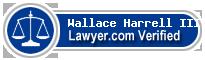 Wallace Harrell III  Lawyer Badge