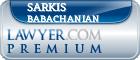 Sarkis Babachanian  Lawyer Badge