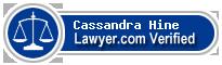 Cassandra Hine  Lawyer Badge