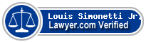 Louis F Simonetti Jr.  Lawyer Badge