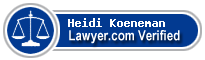 Heidi K Koeneman  Lawyer Badge