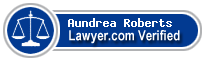 Aundrea L Roberts  Lawyer Badge
