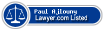 Paul Ajlouny Lawyer Badge