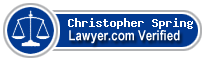 Christopher W. Spring  Lawyer Badge