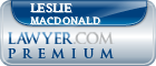 Leslie G. MacDonald  Lawyer Badge