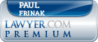 Paul J. Frinak  Lawyer Badge