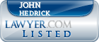 John Hedrick Lawyer Badge