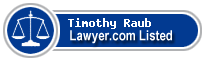 Timothy Raub Lawyer Badge