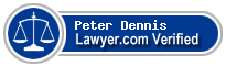 Peter McFarland Dennis  Lawyer Badge