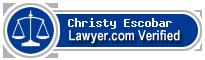 Christy Brad Escobar  Lawyer Badge