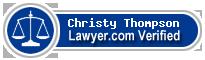 Christy Thompson  Lawyer Badge