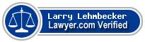 Larry Alan Lehmbecker  Lawyer Badge