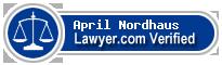 April Nordhaus  Lawyer Badge