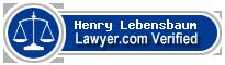 Henry Lebensbaum  Lawyer Badge