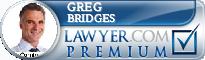 Greg R Bridges  Lawyer Badge