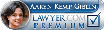 Aaryn Kemp Giblin  Lawyer Badge
