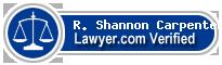 R. Shannon Carpenter  Lawyer Badge