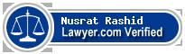 Nusrat J. Rashid  Lawyer Badge
