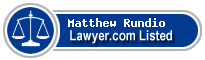 Matthew Rundio Lawyer Badge