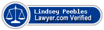 Lindsey Marie Peebles  Lawyer Badge