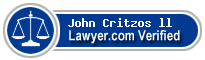John Critzos ll  Lawyer Badge