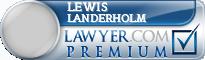 Lewis Irwin Landerholm  Lawyer Badge