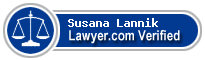 Susana Lannik  Lawyer Badge